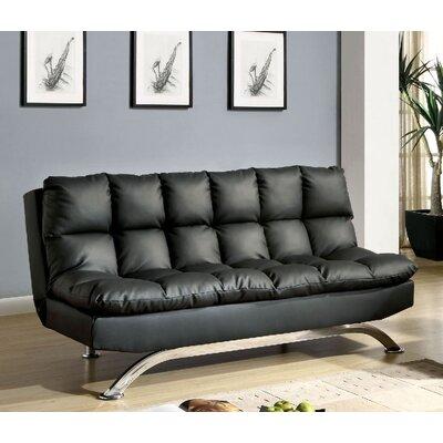 Jorgensen Convertible Sofa Upholstery: Black