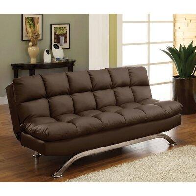 Jorgensen Convertible Sofa Upholstery: Dark Brown