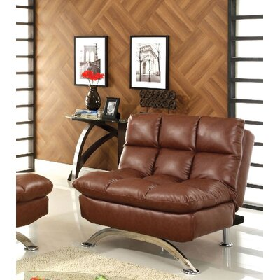 Jorgensen Futon Chair Upholstery: Saddle Brown