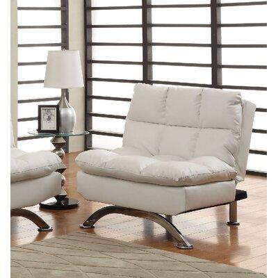 Jorgensen Futon Chair Upholstery: White