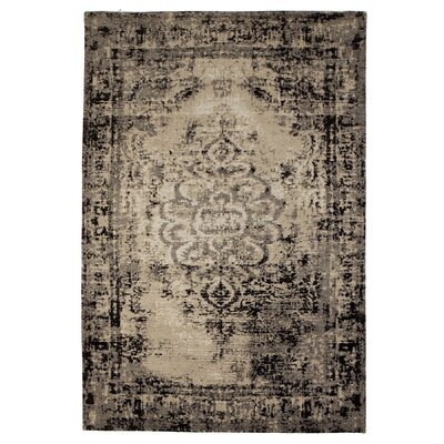 Moberg Jacquard Black/Tan Area Rug Rug Size: Rectangle 4 x 6