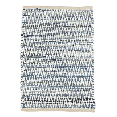 Bulwell Chevron Cotton Denim Area Rug Rug Size: Rectangle 2 x 3