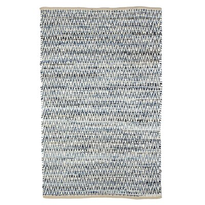 Bulwell Chevron Cotton Denim Area Rug Rug Size: Rectangle 4 x 6