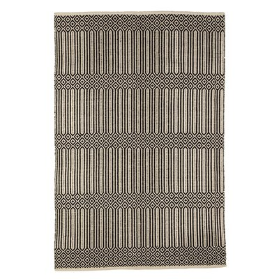 Pellegrino Geometric Hand-Woven Cotton Black/White Area Rug