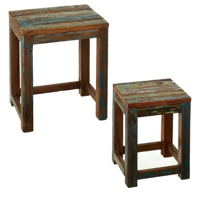 Monier Reclaimed Wood 2 Piece Nesting Tables