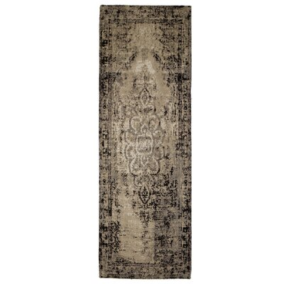 Moberg Jacquard Black/Tan Area Rug Rug Size: Runner 2 x 6