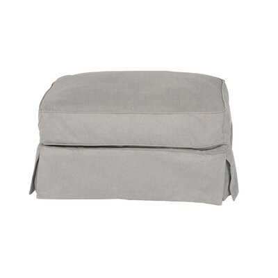 Telluride T-Cushion Ottoman Slipcover Upholstery: Gray