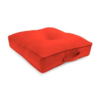 Tufted Outdoor Floor Pillow Color: Coral