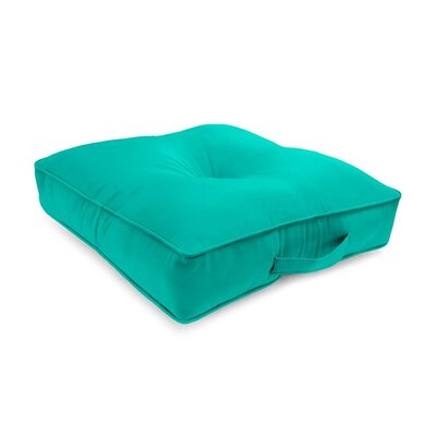 Tufted Outdoor Floor Pillow Color: Aqua