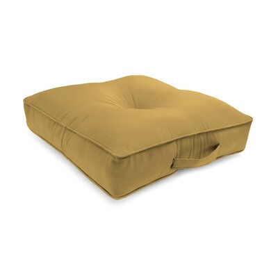 Tufted Outdoor Floor Pillow Color: Khaki