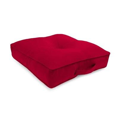Tufted Outdoor Floor Pillow Color: Barn Red