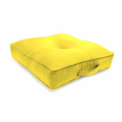 Tufted Outdoor Floor Pillow Color: Daffodil