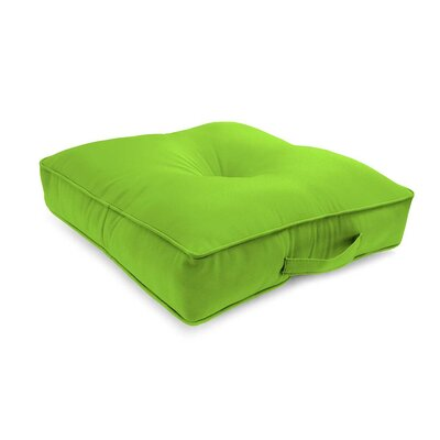 Tufted Outdoor Floor Pillow Color: Greenery