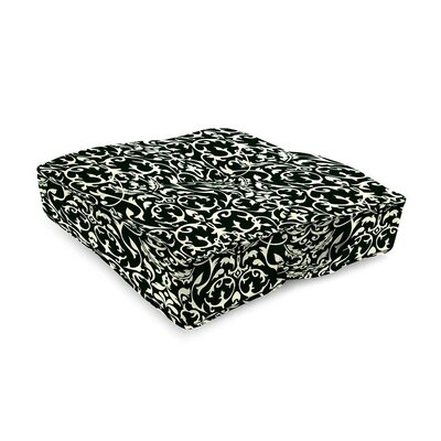 Tufted Outdoor Floor Pillow Color: Pine Filigree