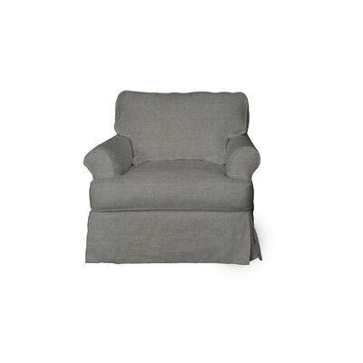 Telluride T-Cushion Armchair Slipcover Upholstery: Gray