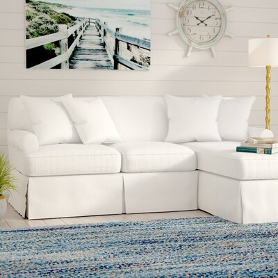 Telluride Sleeper Sectional Upholstery: White