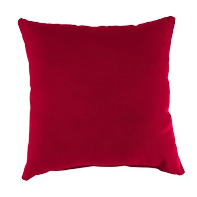 Outdoor Throw Pillow Color: Barn Red, Size: 15 H x 15 W