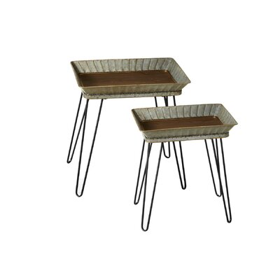 Allerton Fluted 2 Piece Nesting Tables