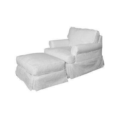 Telluride Armchair and Ottoman Upholstery: White