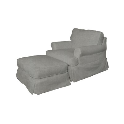 Telluride Armchair and Ottoman Upholstery: Gray
