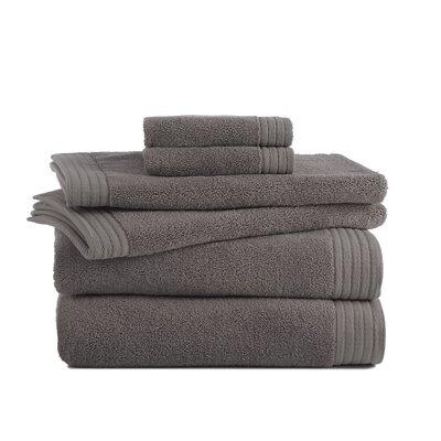 Sherlock Turkish Luxury 6 Piece Towel Set Color: Charcoal Gray