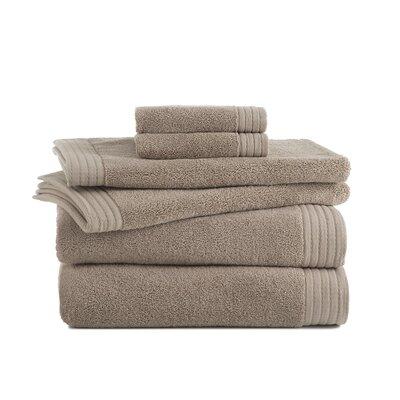 Sherlock Turkish Luxury 6 Piece Towel Set Color: Mink
