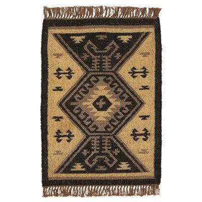 Pelzer Handmade Kilim Black/Tan Area Rug Rug Size: Rectangle 2 x 3