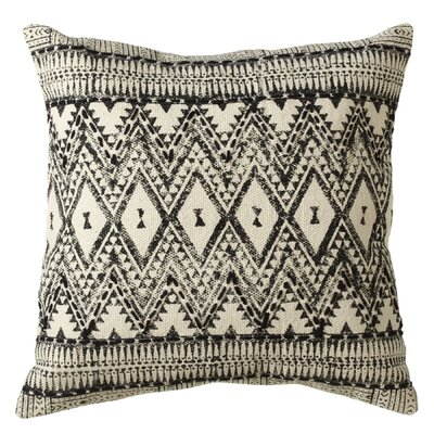 Pena Diamond Tribal Block Print Cotton Throw Pillow