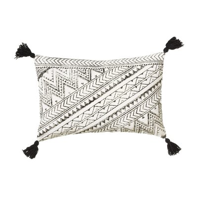 Pender Block Print Cotton Lumbar Pillow