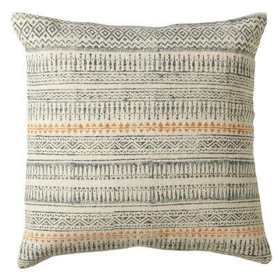 Pender Block Print Cotton Throw Pillow