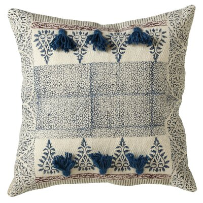 Buckner Block Print Cotton Throw Pillow
