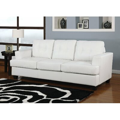 Po Buttonless Tufted Sleeper Sofa Upholstery: White
