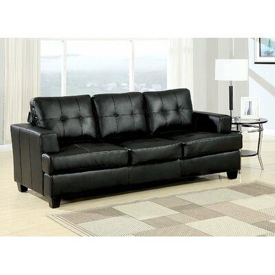 Po Buttonless Tufted Sleeper Sofa Upholstery: Black