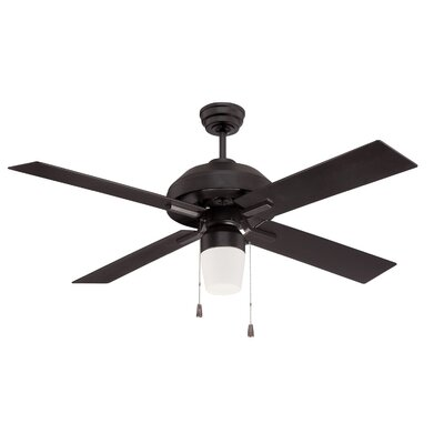 52 Fagundes 4 Blade LED Ceiling Fan Finish: Flat Black