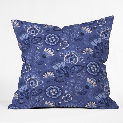 Pimlada Phuapradit and Floral Throw Pillow