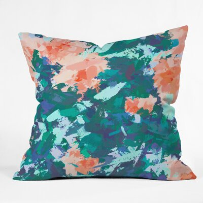 83 Oranges Blossomed Garden Throw Pillow