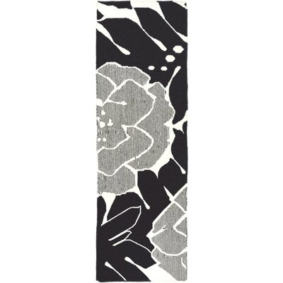 Abigail Hand-Woven Black/Beige Area Rug Rug Size: Runner 26 x 8