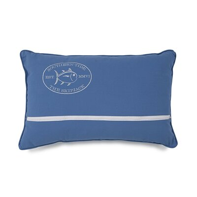 Skipper Stripe Canvas Cotton Lumbar Pillow