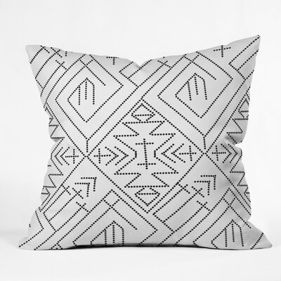 Vy La Angled Stitch Rust Throw Pillow