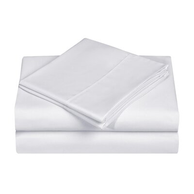 Casual Style Novelty Sheet Set Size: King, Color: White