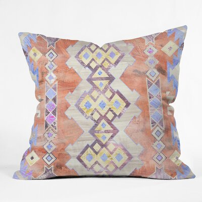 Jacqueline Maldonado Folk Floral Natural Throw Pillow
