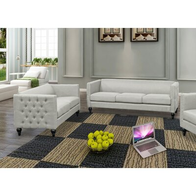 Isenhour 2 Piece Living Room Set Upholstery: Beige