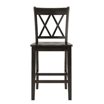 Rabideau Double X-Back 24 Bar Stool Color: Antique Black