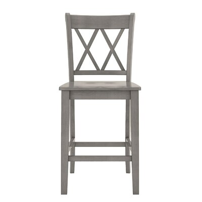 Rabideau Double X-Back 24 Bar Stool Color: Antique Gray