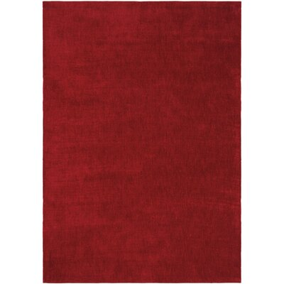 LA Hand-Woven Burgundy Area Rug Rug Size: Rectangle 53 x 75