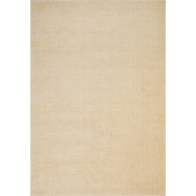 LA Hand-Woven Ivory Area Rug Rug Size: Rectangle 8 x 10