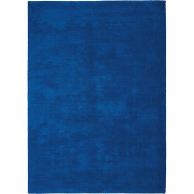 LA Hand-Woven Cobalt Blue Area Rug Rug Size: Rectangle 53 x 75