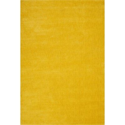 LA Hand-Woven Yellow Area Rug Rug Size: Rectangle 53 x 75
