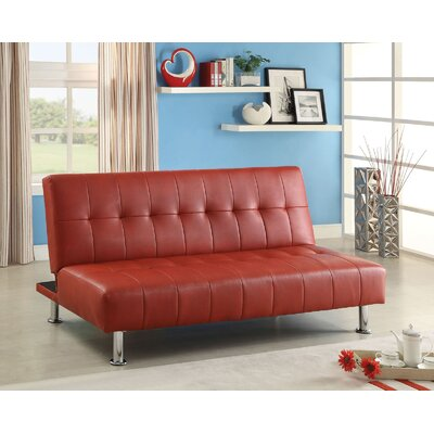 Ankiewicz Convertible Sofa Upholstery: Red
