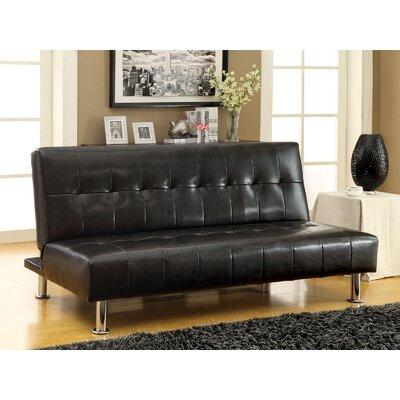 Ankiewicz Convertible Sofa Upholstery: Black